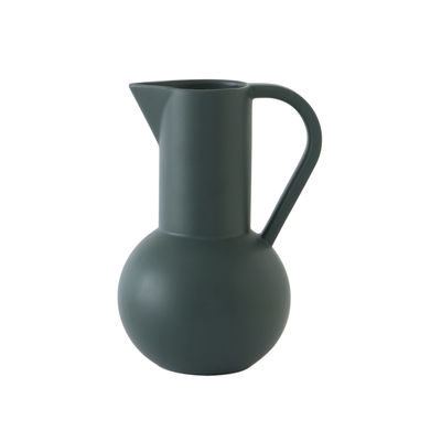 Tableware - Water Carafes & Wine Decanters - Strøm Medium Carafe - / H 24 cm - Handmade ceramic by raawii - Gables green - Ceramic
