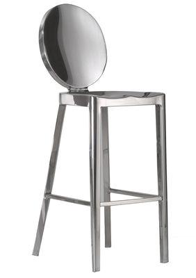 Mobilier - Tabourets de bar - Chaise de bar Kong / H 60 cm - Emeco - H 60 cm / Alu poli - Aluminium poli recyclé