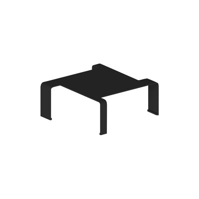 Furniture - Coffee Tables - Spin Small Coffee table - / 90 x 90 x H 29 cm by Zeus - Sanded black copper - Steel