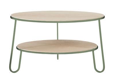 Möbel - Couchtische - Eugénie Small Couchtisch / Ø 70 cm x H 40 cm - Hartô - Graugrün - Holzfaserplatte, Stahl