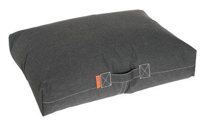 Mobilier - Poufs - Coussin de sol Felix / 80 x 56 cm - Trimm Copenhagen - Noir graphite -  Microbilles EPS, Toile Sunbrella