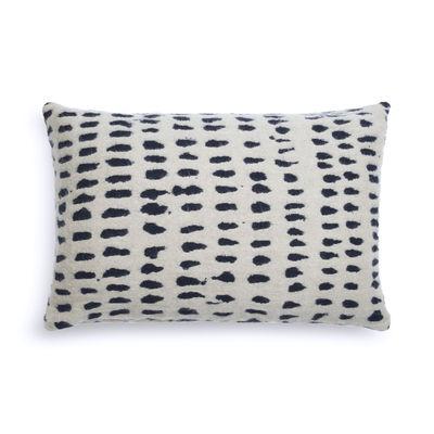 Image of Cuscino Dots - / 60 x 40 cm di Ethnicraft - Bianco/Beige - Tessuto