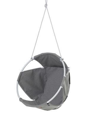 Mobilier - Compléments d'ameublement - Fauteuil suspendu Cocoon outdoor / Toile enduite - Trimm Copenhagen - Gris - Aluminium laqué, Toile Sunbrella Plus