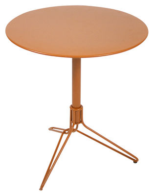 Outdoor - Garden Tables - Flower Table ronde by Fermob - Carrot - Steel