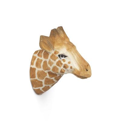 Furniture - Coat Racks & Pegs - Animal Hook - / Giraffe - Hand sculpted by Ferm Living - Giraffe - Glass, Poplar wood
