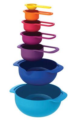 Tavola - Ciotole - Insalatiera Nest Plus - / & Ciotole-dosatori - 7 elementi impilabili di Joseph Joseph - Multicolore - Polipropilene