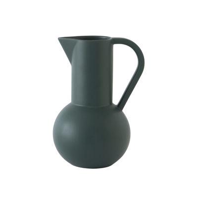 Tischkultur - Karaffen - Strøm Medium Karaffe / H 24 cm - Céramique / Fait main - raawii - Vert Gables - Keramik