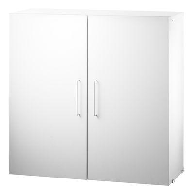 Möbel - Aufbewahrungsmöbel - String Works™ Kiste / 2-türig - L 78 cm - String Furniture - Weiß - lackierte Holzfaserplatte, lackierter Stahl