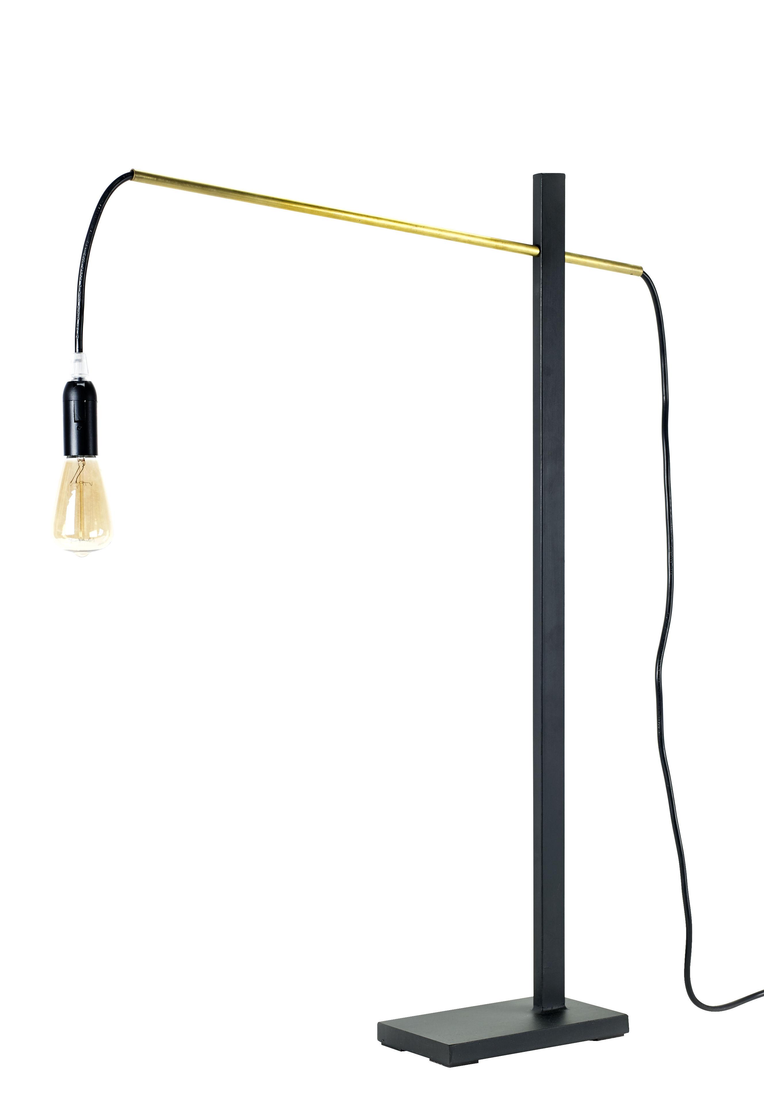 Luminaire - Lampes de table - Lampe à poser Flamingo Small / H 73 cm - L 50 cm - Serax - Noir / Tube cuivre - Fer