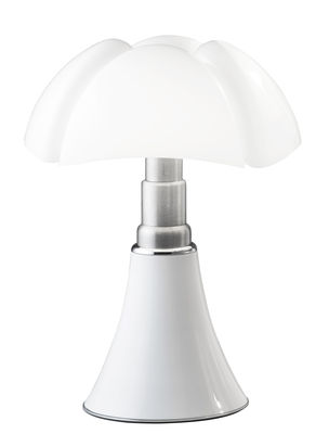 Lampe de table Pipistrello Medium LED / H 50 à 62 cm - Martinelli Luce blanc en métal