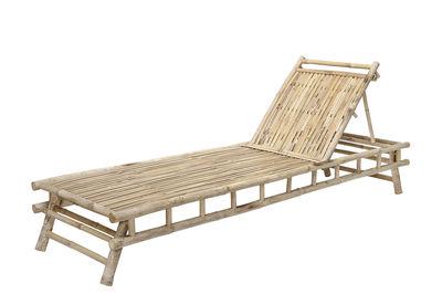 Outdoor - Sdraio, lettini e amache - Lettino da sole Sole - / Bambù - Multiposizione di Bloomingville - Bambù - Bambù