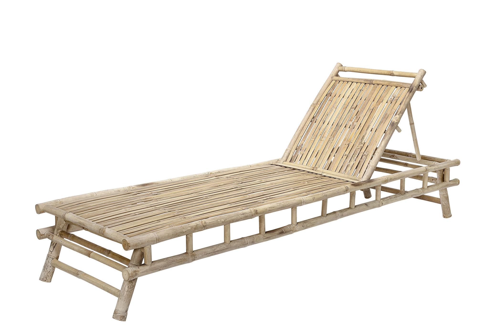Outdoor - Sedie e Amache - Lettino da sole Sole - / Bambù - Multiposizione di Bloomingville - Bambù - Bambù