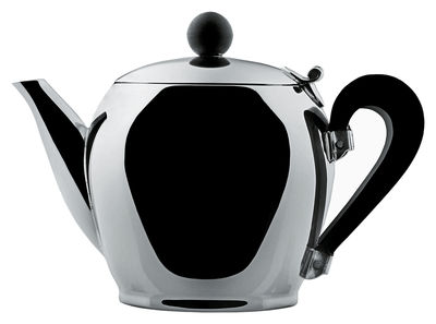 Decoration - Home Accessories - Bombé Miniature - Teapot by Alessi - Stainless steel - Polyamide, Stainless steel