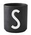 Mug Arne Jacobsen / Porcelaine - Lettre S - Design Letters
