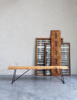 Panchina old times di zeus nero legno naturale made in for Arredamento made in china