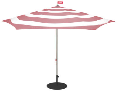 Outdoor - Parasols - Stripesol Parasol - / Ø 350 cm by Fatboy - Blush pink - Aluminium, Polyester outdoor fabric
