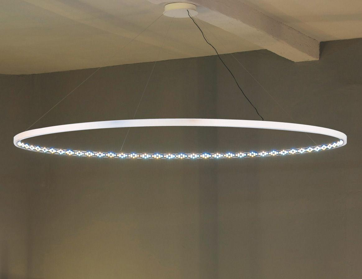 Leuchten - Pendelleuchten - Omega Pendelleuchte / LED - Ø 200 cm - Le Deun - Weiß - Stahl