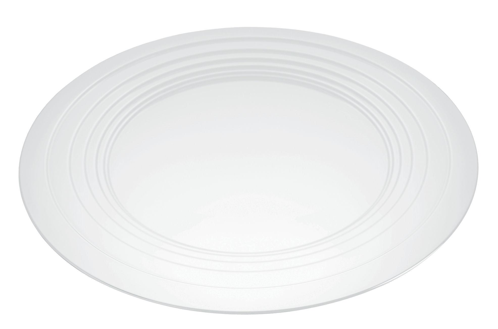 Tavola - Vassoi  - Vassoio Le Cerchie / Centrotavola - Ø 48 cm - Alessi - Bianco - Acier laqué époxy