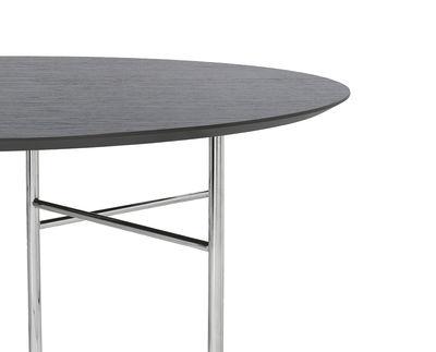 Plateau de table / Pour tréteaux Mingle Large - Ø130 cm - Ferm Living noir en bois