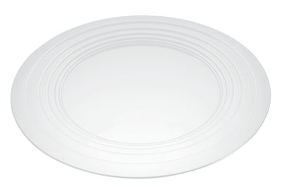 Plateau Le Cerchie / Centre de table - Ø 48 cm - Alessi blanc en métal