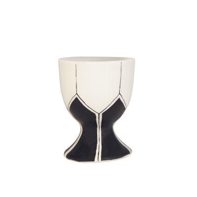 Tavola - Portauova - Portauovo Daria - / Ceramica dipinto a mano di Maison Sarah Lavoine - Nero - Ceramica smaltata
