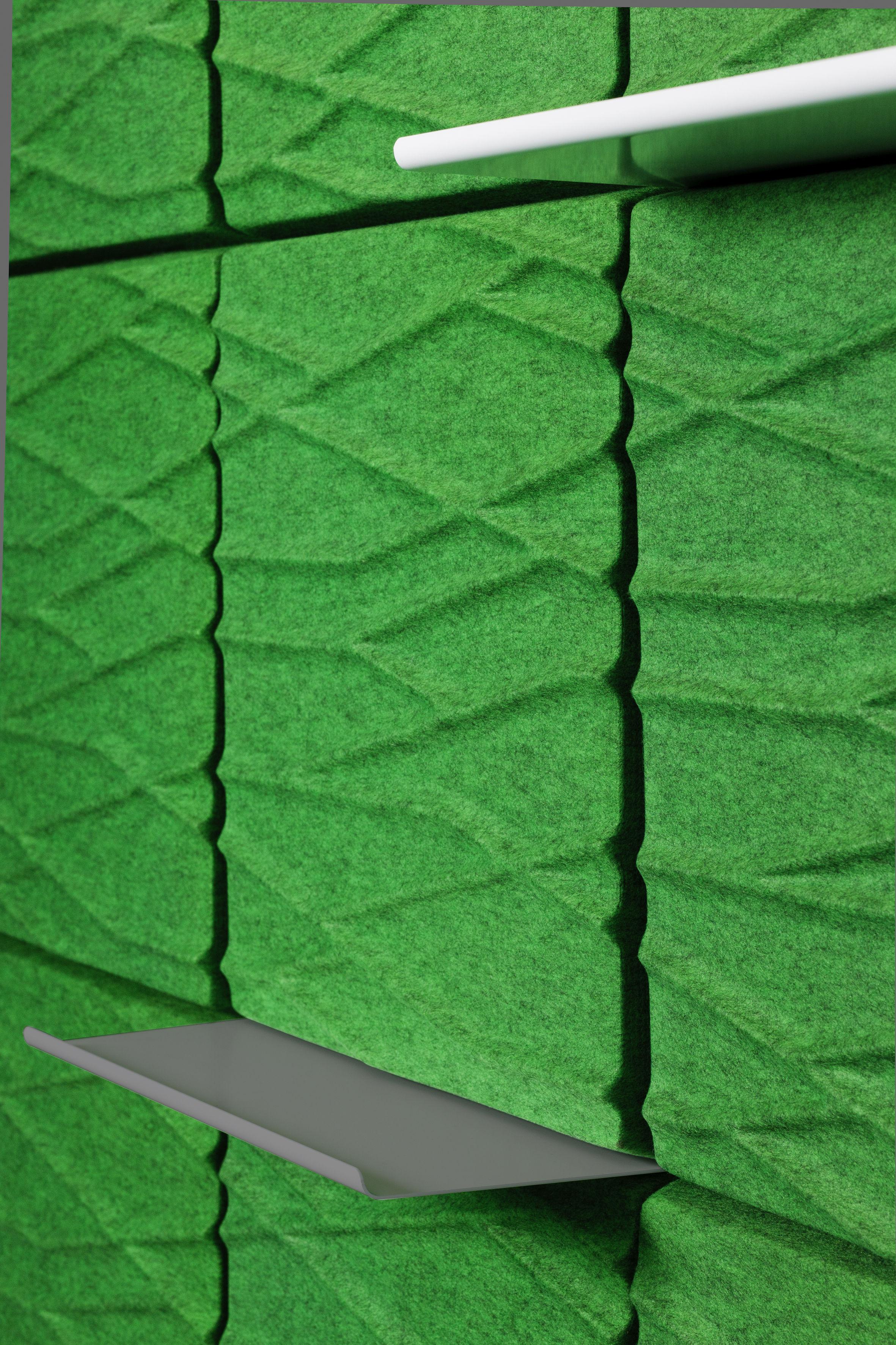 Arredamento - Scaffali e librerie - Scaffale - per pannello murale acustico Soundwave - L 58,5 cm di Offecct - Antracite - metallo laccato