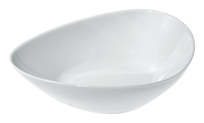 Tischkultur - Salatschüsseln und Schalen - Colombina Schale - Alessi - Weiß - H 4 cm - Porzellan