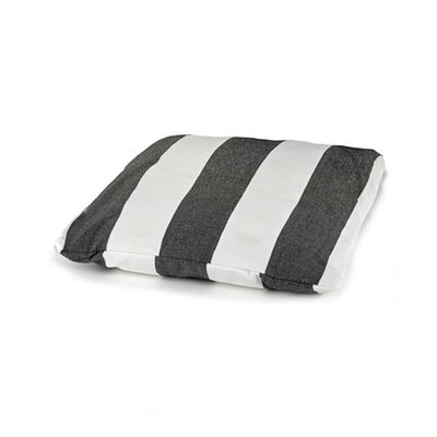 Furniture - Armchairs - Seat cushion - / For Fish & Fish low armchair by Serax - Cushion / Black & white stripes - Polyurethane foam, Synthetic fabric