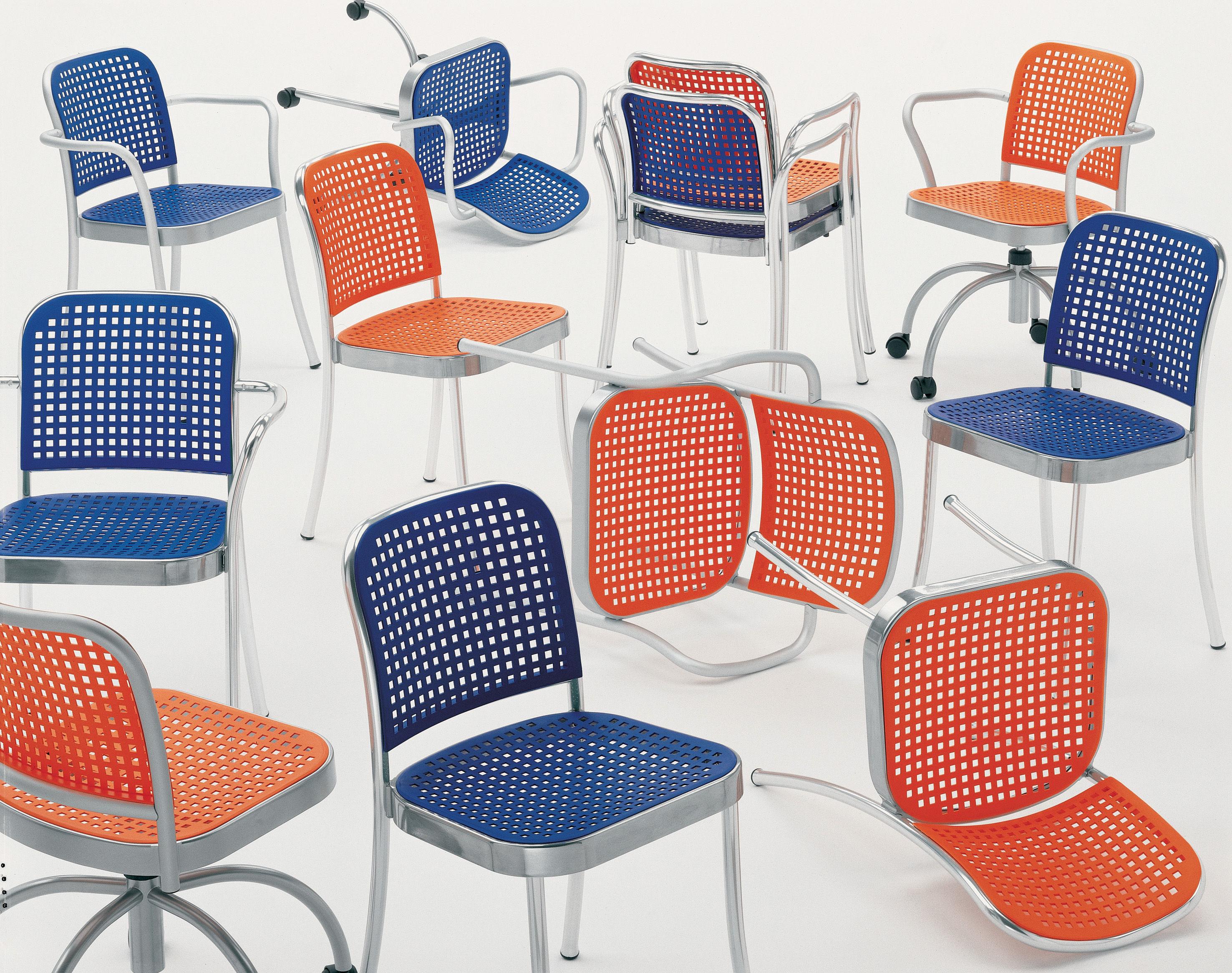Silver sedia alluminio satinato bianco by de padova made in design - Sedie ufficio padova ...