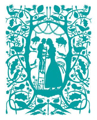 Sticker Ladder Kiss - Domestic turquoise en matière plastique