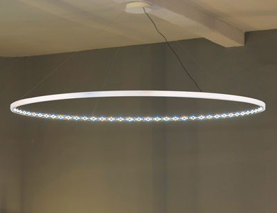 Luminaire - Suspensions - Suspension Omega / LED - Ø 200 cm - Le Deun - Blanc - Acier