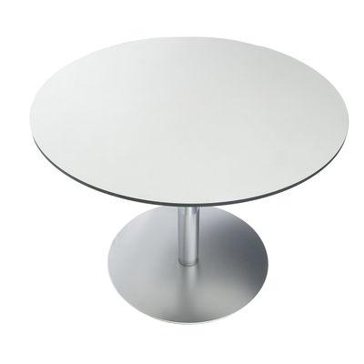 Table à hauteur réglable Brio / Ø 60 cm - Lapalma blanc en métal/bois