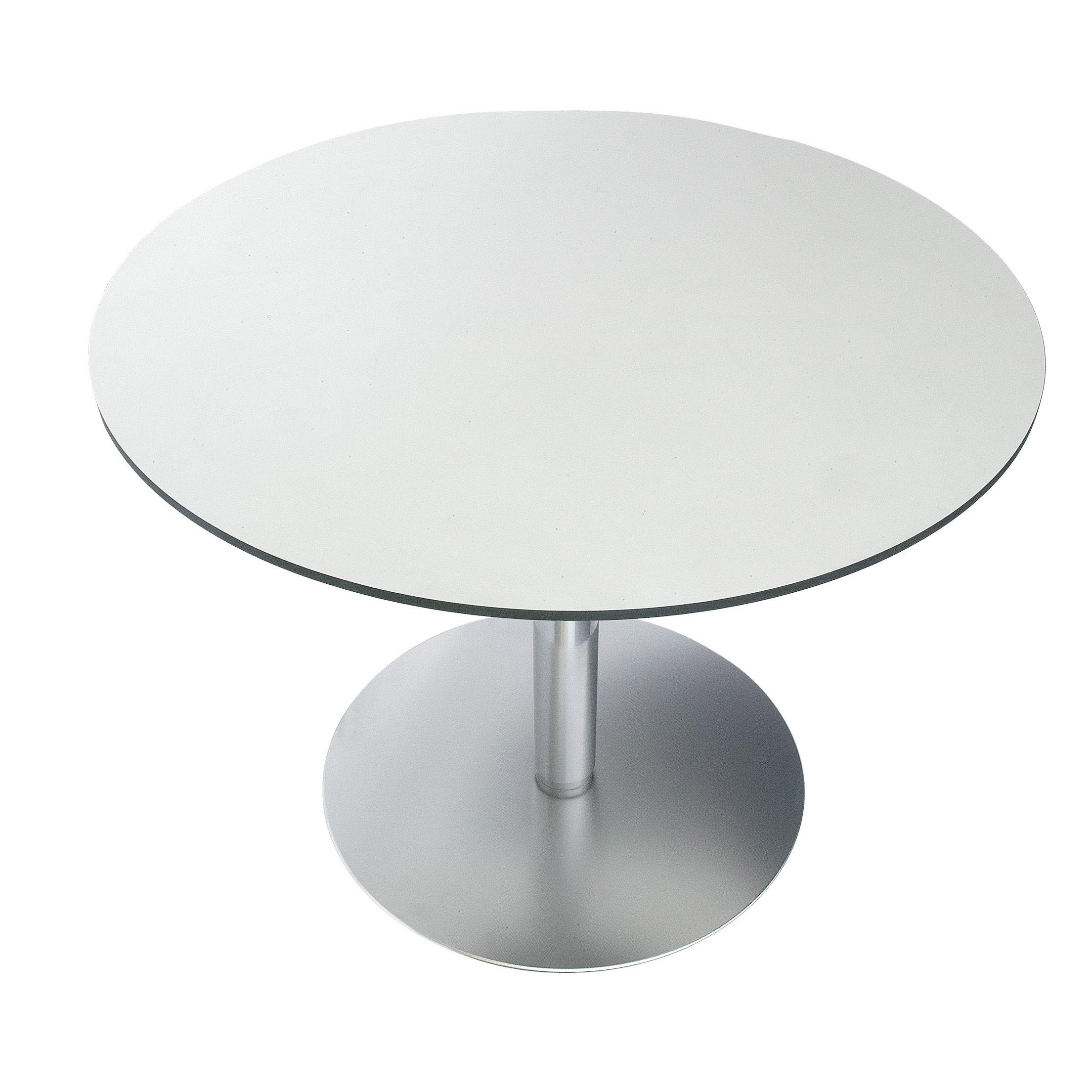 Mobilier - Mange-debout et bars - Table à hauteur réglable Brio / Ø 60 cm - Lapalma - HPL Blanc - Acier, HPL