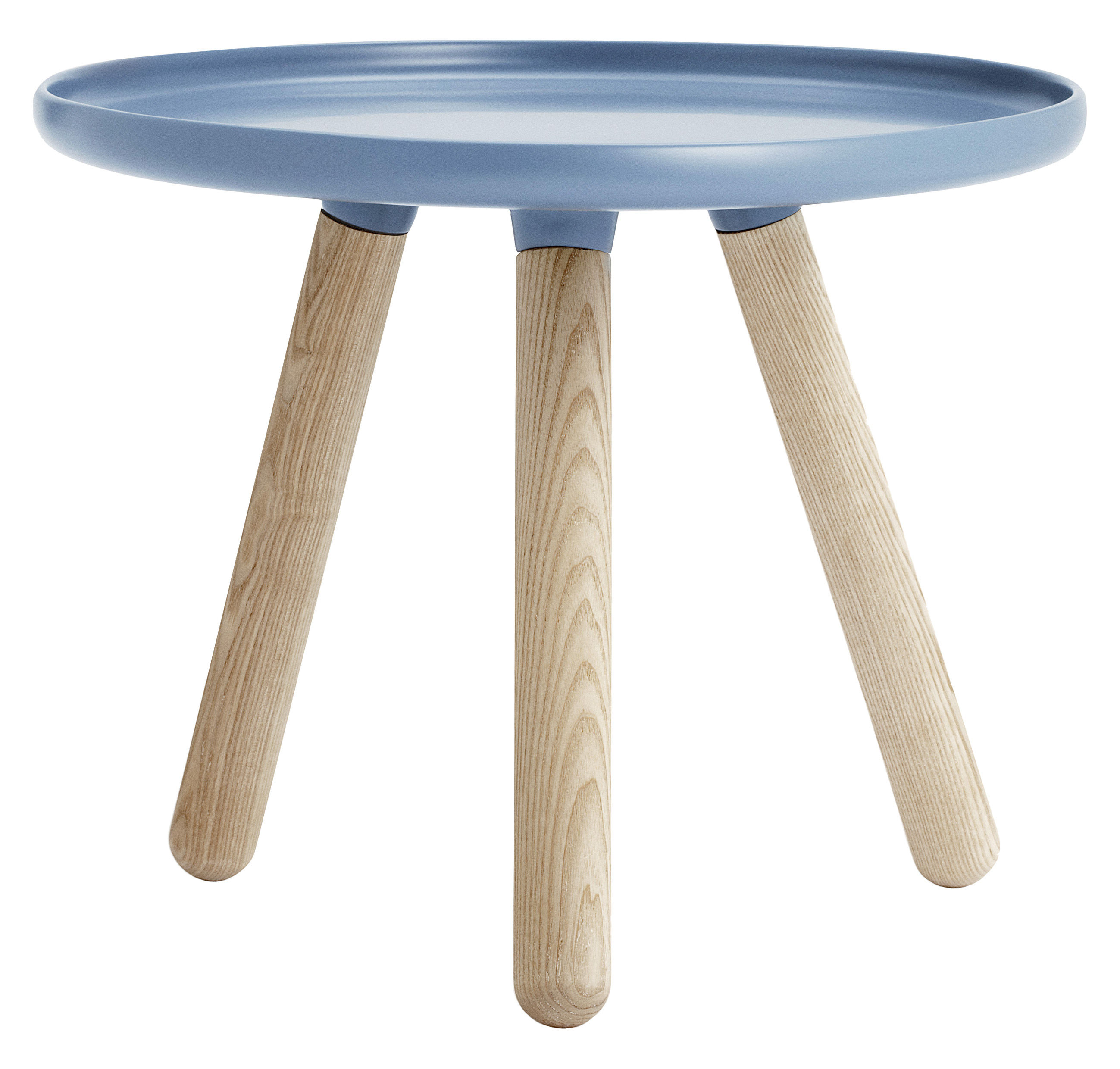 Mobilier - Tables basses - Table basse Tablo Small / Ø 50 cm - Normann Copenhagen - Bleu - Frêne, Matériau composite