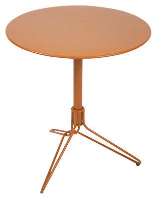 Table de jardin Flower / Ø 67 cm - Fermob carotte en métal