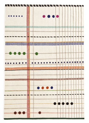 Déco - Tapis - Tapis Rabari 2 / Tissé main - 170 x 240 cm - Nanimarquina - Fond crème / Motifs colorés abstraits - Laine vierge