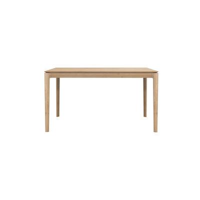 Arredamento - Tavoli - Tavolo rettangolare Bok - / Rovere massello - 140 x 80 cm / 6 persone di Ethnicraft - 140 x 80 cm / Rovere - Rovere massello