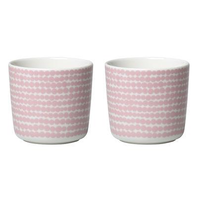 Tavola - Tazze e Boccali - Tazzina da caffè Siirtolapuutarha - / Senza manico - Set di 2 di Marimekko - Siirtolapuutarha / rosa - Gres