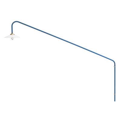 Leuchten - Wandleuchten - Hanging Lamp n°1 Wandleuchte mit Stromkabel / H 140 x L 175 cm - valerie objects - Blau - Glas, Stahl