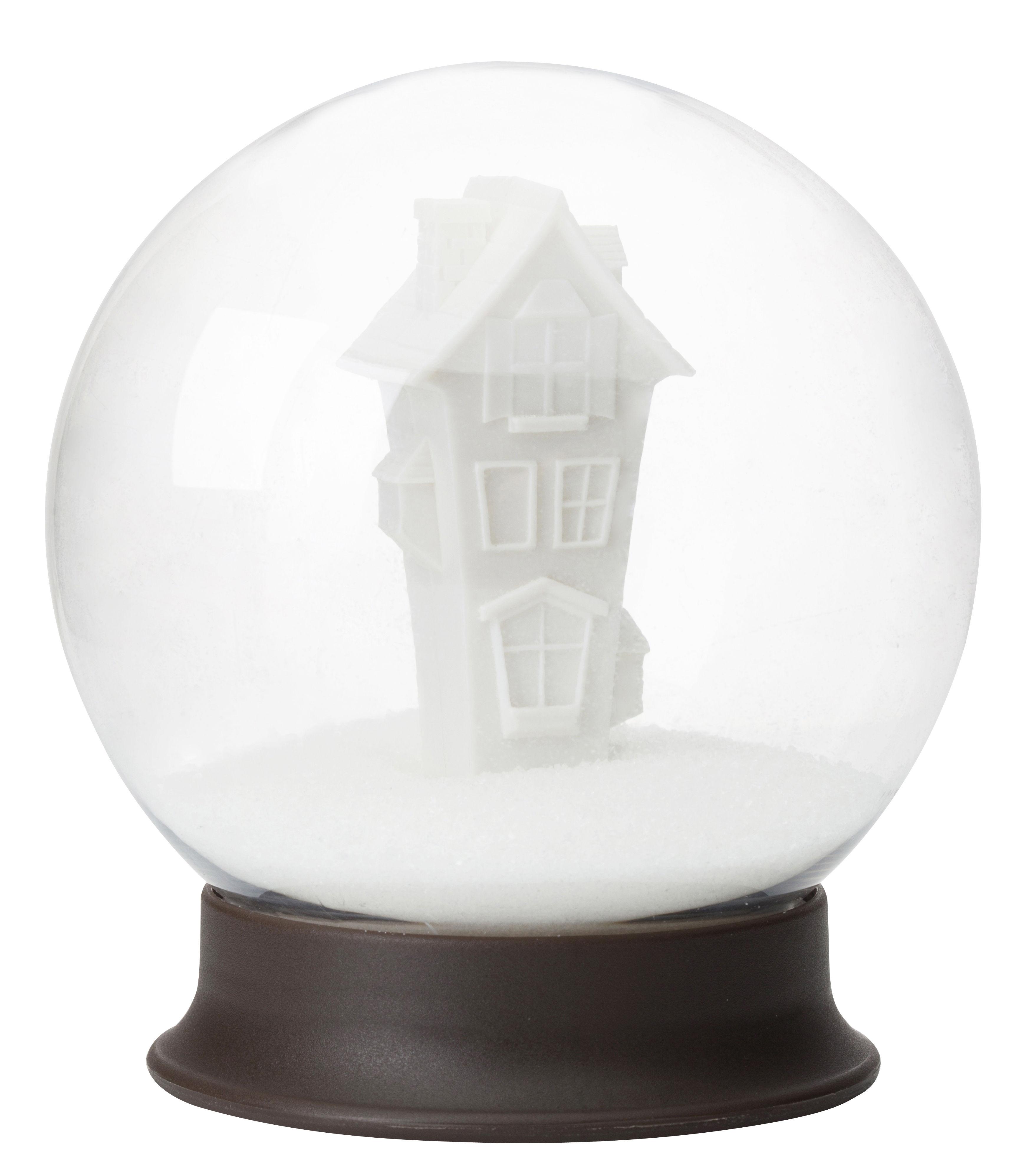 Cucina - Zuccheriere - Zuccheriera Sugar house / Palla di neve - Pa Design - Trasparente / Marrone - Plastica rigida