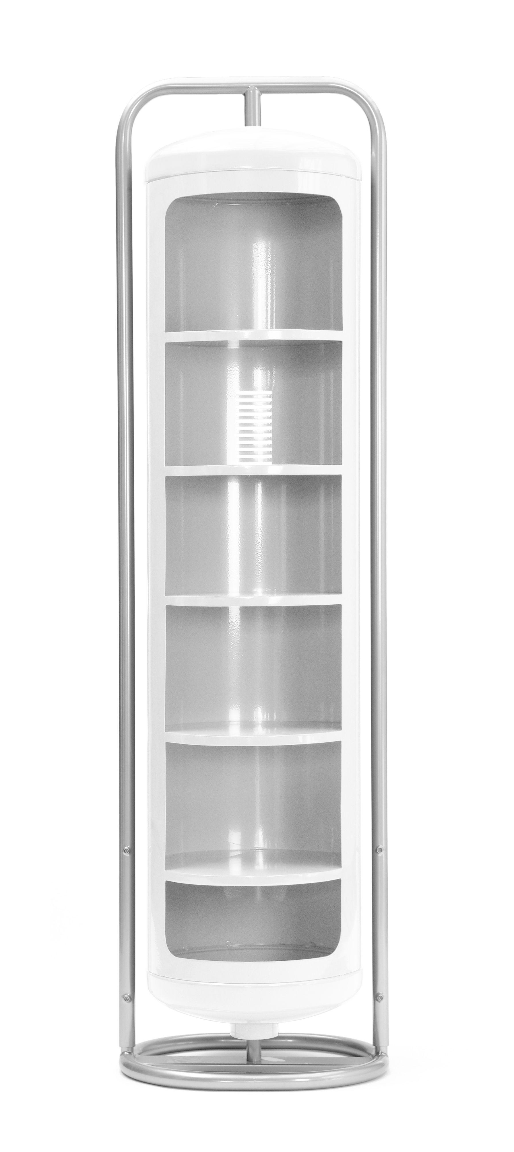 Mobilier - Etagères & bibliothèques - Armoire Cylindre Mono - Tolix - Blanc - Acier recyclé laqué