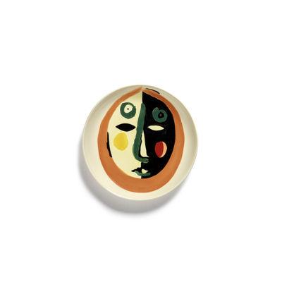 Arts de la table - Assiettes - Assiette à mignardises Feast XS / Ø 16 cm - Serax - Visage 1 / Multicolore - Grès émaillé