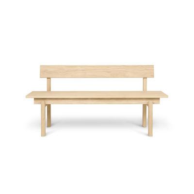 Banc avec dossier Peka OUTDOOR / L 150 cm - Pin traitement Acoya - Ferm Living bois naturel en bois