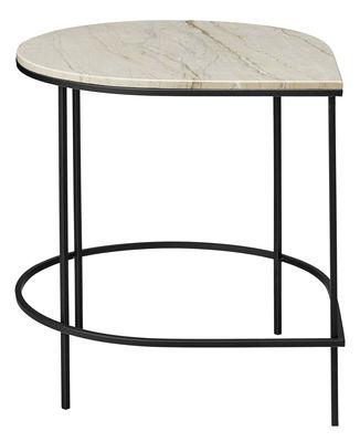 Möbel - Couchtische - Stilla Beistelltisch / Tischplatte Marmor - H 50 cm - AYTM - Weißer Marmor / Tischgestell schwarz - Fer peint, Marmor