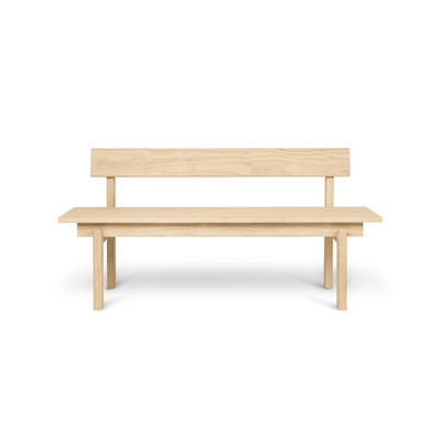 Furniture - Benches - Peka OUTDOOR Bench with backrest - / L 150 cm - Accoya-treated pine by Ferm Living - Light pine - FSC Accoya Pine