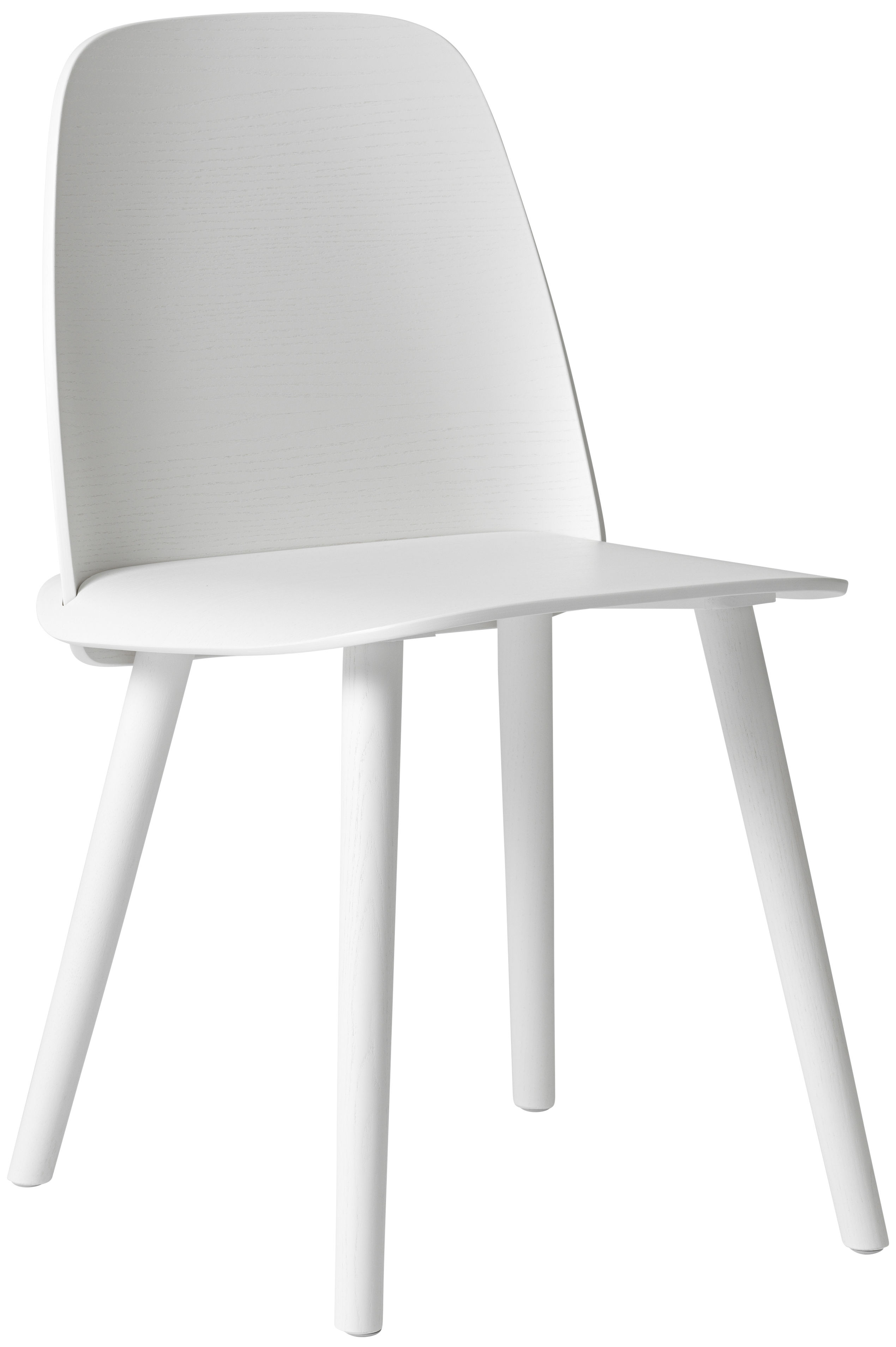 Furniture - Chairs - Nerd Chair - Wood by Muuto - White - Lacquered ash