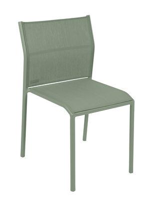 Mobilier - Chaises, fauteuils de salle à manger - Chaise empilable Cadiz / Toile - Fermob - Cactus - Aluminium laqué, Toile Batyline®
