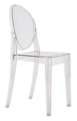Chaise empilable Victoria Ghost / Polycarbonate 2.0 - Kartell transparent en matière plastique