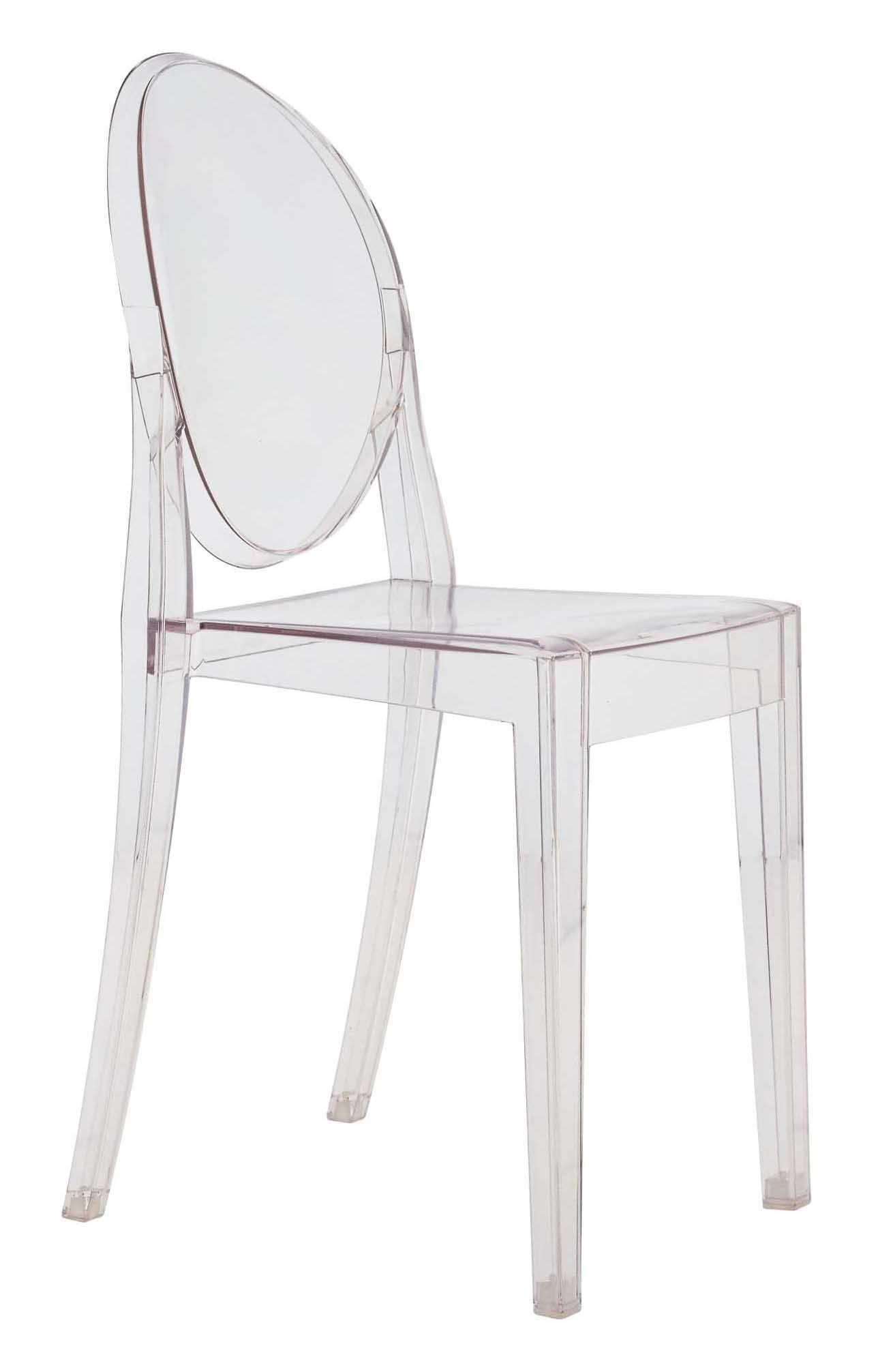 Chaise Empilable Victoria Ghost Kartell Cristal L 38 X H 90