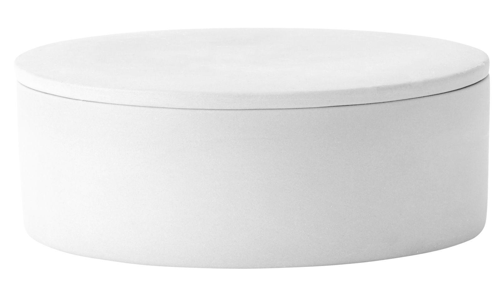 Interni - Vasi - Coperchio / Per vaso Cylindrical Large - Ø 12 cm - Menu - Coperchio / Bianco - Argilla